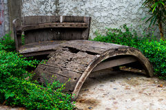 Cadeira de madeira para um assento Foto de Stock