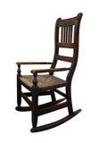 Cadeira de madeira velha de Rockin imagens de stock