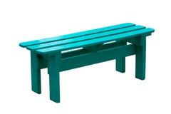 Cadeira de madeira verde isolada no fundo branco. Imagem de Stock