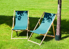 Cadeira de praia imagens de stock royalty free