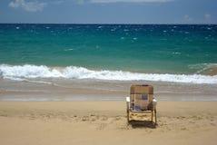 Cadeira de praia Imagem de Stock