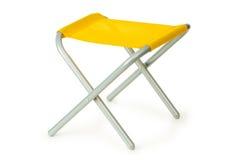 Cadeira de praia isolada no branco Fotografia de Stock