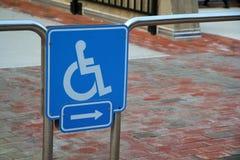 Cadeira de roda acessível Fotos de Stock
