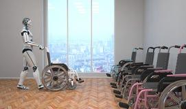 Cadeira de roda do robô ilustração royalty free