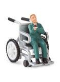 Cadeira de rodas do brinquedo Imagens de Stock Royalty Free