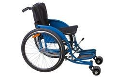 Cadeira de rodas isolada no fundo branco Fotografia de Stock Royalty Free