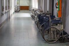Cadeira de rodas no hospital Imagem de Stock