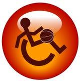 A cadeira de rodas ostenta a tecla do Web ilustração stock