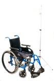 Cadeira de rodas para handicaped no branco Foto de Stock Royalty Free