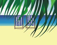 Cadeira de sala de estar da praia Imagens de Stock Royalty Free