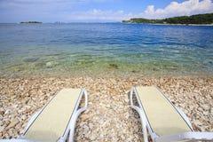 Cadeira de sala de estar de dois plásticos Fotografia de Stock