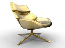 Cadeira de sala de estar dourada ilustração do vetor