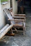 Cadeira de sala de estar de bambu fotos de stock royalty free