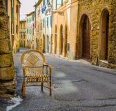 A cadeira de vime Fotografia de Stock