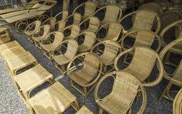 Cadeira de vime Fotos de Stock Royalty Free