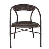 Cadeira de vime no fundo branco fotografia de stock