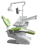 Cadeira dental verde fotografia de stock royalty free