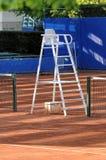 Cadeira do árbitro do tênis fotos de stock