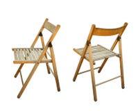 Cadeira do assento de jardim em vistas diferentes Fotos de Stock Royalty Free