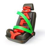 Cadeira do carro Imagens de Stock Royalty Free