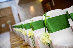 Cadeira do casamento Fotografia de Stock Royalty Free