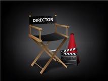 Cadeira do diretor de filme Fotografia de Stock Royalty Free