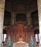 Cadeira do dragão em Dazheng Salão Fotografia de Stock