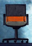 Cadeira do escritório, mão tirada Fotografia de Stock Royalty Free