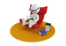 Cadeira do livro de leitura Imagens de Stock Royalty Free
