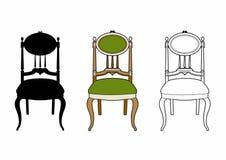 Cadeira do medalhão do estilo Imagens de Stock