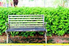 A cadeira do metal decora o jardim interno Fotos de Stock