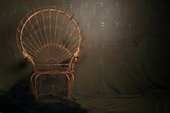 Cadeira do metal do vintage Imagens de Stock