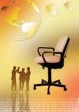 Cadeira do negócio Imagens de Stock Royalty Free