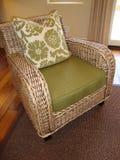 Cadeira do Rattan fotografia de stock