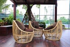 Cadeira do rattan fotografia de stock royalty free