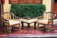 Cadeira do Rattan imagens de stock royalty free