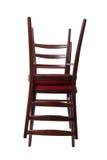 Cadeira dois isolada no fim do branco acima foto de stock royalty free