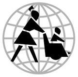 Cadeira e enfermeira de roda ilustração do vetor