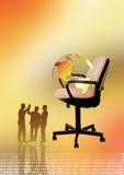 cadeira e globo Ilustração Stock