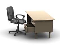 Cadeira e tabela Foto de Stock Royalty Free