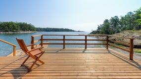 Cadeira e terraço Imagens de Stock Royalty Free