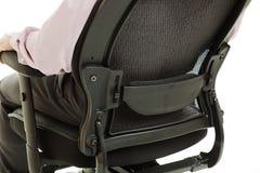Cadeira ergonómica - sustentação da madeira serrada Foto de Stock Royalty Free