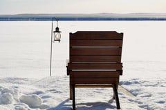 Cadeira & lanterna Imagem de Stock