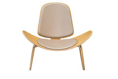 Cadeira moderna isolada Imagem de Stock