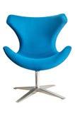 Cadeira moderna no metal e na tela azul Imagem de Stock