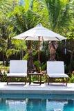 Cadeira na piscina Imagem de Stock