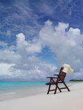 Cadeira na praia Fotografia de Stock Royalty Free