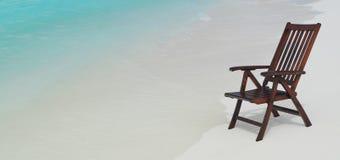 Cadeira na praia Fotos de Stock Royalty Free