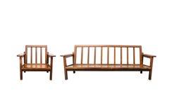 Cadeira no fundo branco Fotos de Stock Royalty Free
