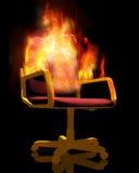 Cadeira no incêndio Fotografia de Stock
